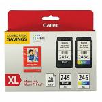 Original Canon PGI-245XL Black CLI-246XL Color Ink, High Yield