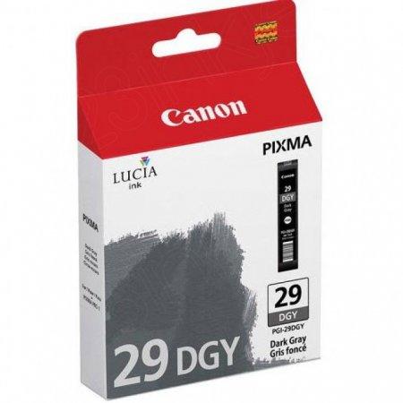 Canon 4870B002 (PGI-29) Ink Cartridge, Dark Gray, OEM