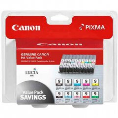 Canon 1033B005 Value Pack PGI-9 Ink Cartridges, MultiPack, OEM
