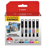 OEM Canon 6513B011 Ink Cartridge - Combo