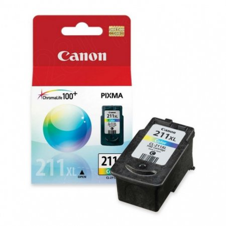 Canon CL-211XL Inkjet Cartridge, High Yield Color, OEM