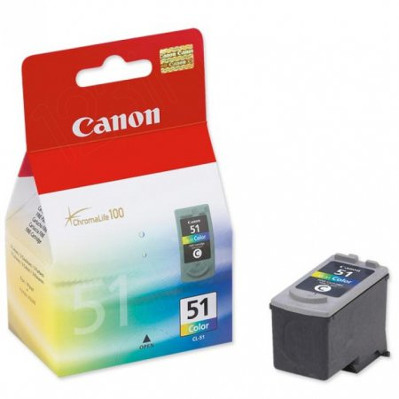 Canon CL51 High Yield Inkjet Cartridge, Color, OEM