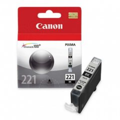 Canon CLI-221 Inkjet Cartridge, Black, OEM