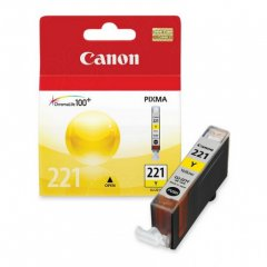 Canon CLI-221 Inkjet Cartridge, Yellow, OEM
