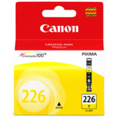 Canon CLI226 Inkjet Cartridge, Yellow, OEM