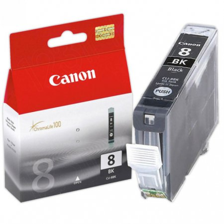 Canon CLI8Bk Inkjet Cartridge, Black, OEM