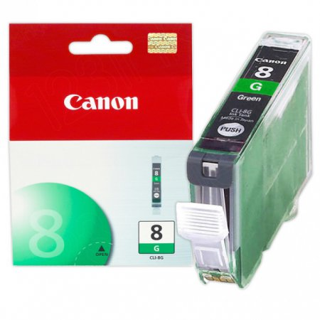 Canon CLI8G Inkjet Cartridge, Green, OEM