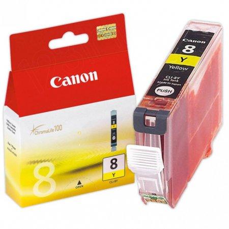 Canon CLI8Y Inkjet Cartridge, Yellow, OEM