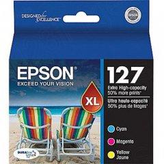 Epson T127520 3-Color Multipack 127 Ink Cartridges, OEM