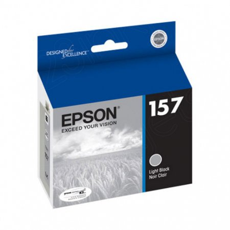Epson T157720 (157) Ink Cartridge, Pigment Light Black, OEM