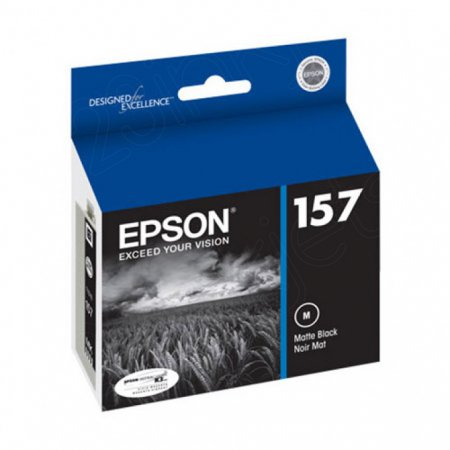 Epson T157820 (157) Ink Cartridge, Pigment Matte Black, OEM