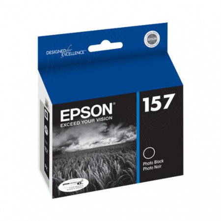 Epson T157120 (157) Ink Cartridge, Pigment Photo Black, OEM