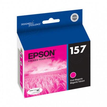 Epson T157320 (157) Ink Cartridge, Pigment Vivid Magenta, OEM