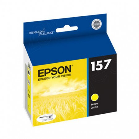 Epson T157420 (157) Ink Cartridge, Pigment Yellow, OEM