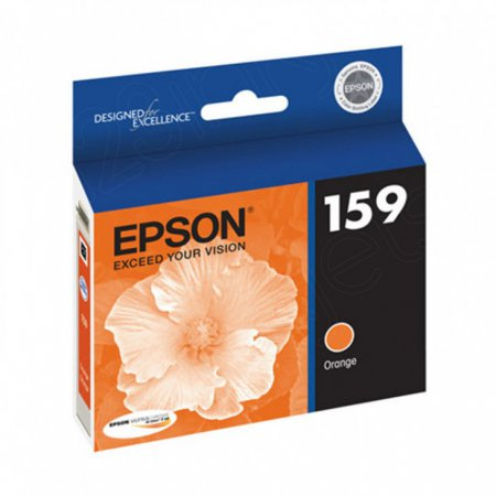Epson T159920 (159) Ink Cartridge, Orange, OEM