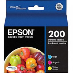 Epson T200520 3-Color Multipack 200 Ink Cartridges, OEM