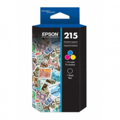 Epson T215120BCS Twin Pack 215 Ink Cartridges, OEM