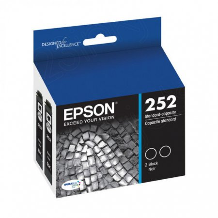 Epson T252120D2 4-Color Multipack 252 Ink Cartridges, OEM