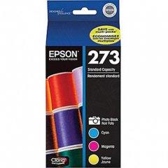 Epson T273520 4-Color Multipack 273 Ink Cartridges, OEM
