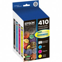 Epson T410520 4-Color Multipack 410 Ink Cartridges, OEM