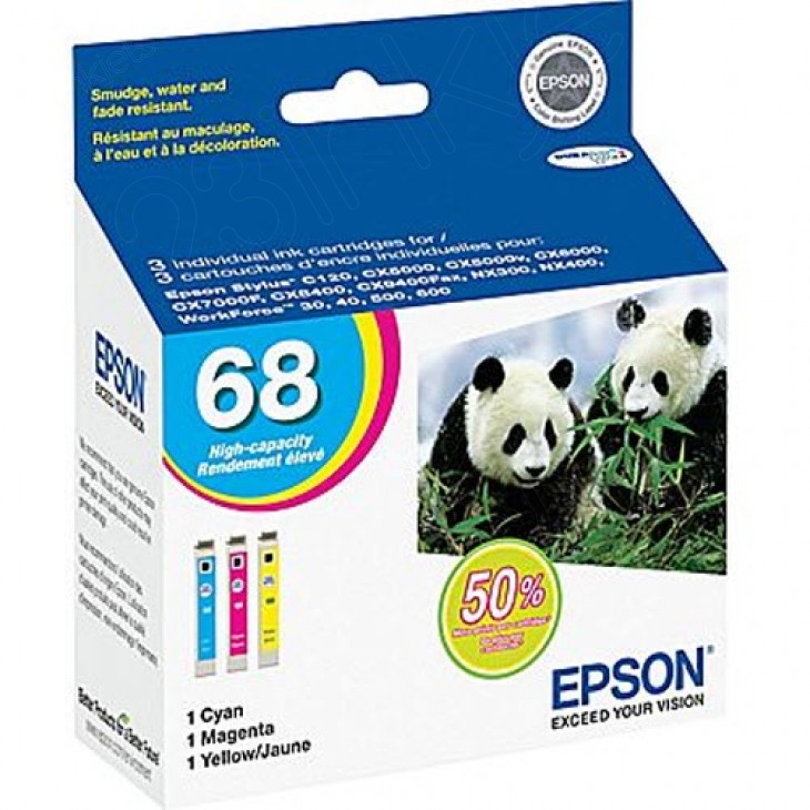 Epson T068520 3-Color Multipack 68 Ink Cartridges, OEM