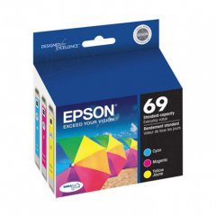 Epson T069520 3-Color Multipack 69 Ink Cartridges, OEM