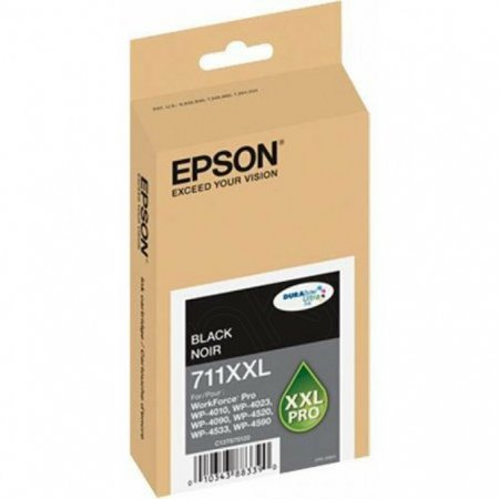 Epson T711XXL120 (711XXL) Ink Cartridge, Pigment Black, OEM