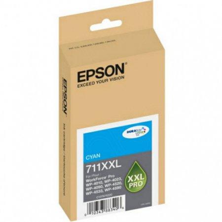 Epson T711XXL220 (711XXL) Ink Cartridge, Pigment Cyan, OEM