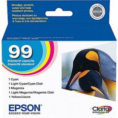 Epson T099920 5-Color Multipack 99 Ink Cartridges, OEM