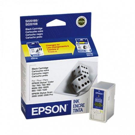 Epson S189108 Ink Cartridge, Black, OEM