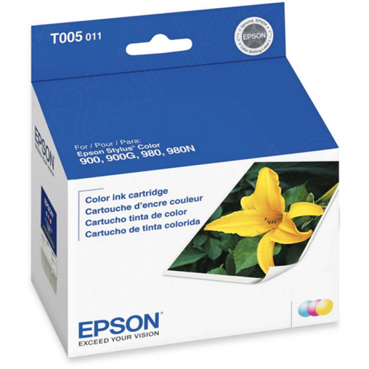 Epson T005011 (T005) Ink Cartridge, Color, OEM