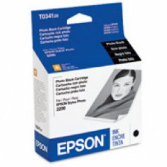Epson T034120 (T0341) Ink Cartridge, Photo Black, OEM