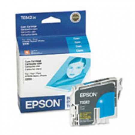 Epson T034220 (T0342) Ink Cartridge, Cyan, OEM