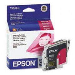 Epson T034320 (T0343) Ink Cartridge, Magenta, OEM