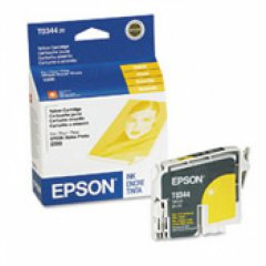 Epson T034420 (T0344) Ink Cartridge, Yellow, OEM