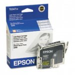 Epson T034720 (T0347) Ink Cartridge, Light Black, OEM