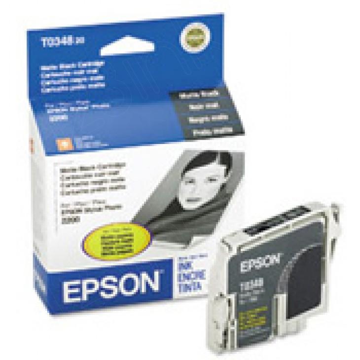Epson T034820 (T0348) Ink Cartridge, Matte Black, OEM