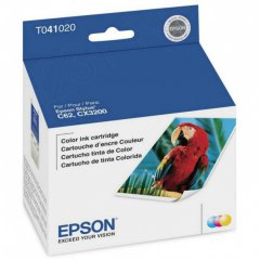 Epson T041020 (T0410) Ink Cartridge, Color, OEM
