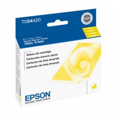 Epson T054420 (T0544) Ink Cartridge, Pigment Yellow, OEM