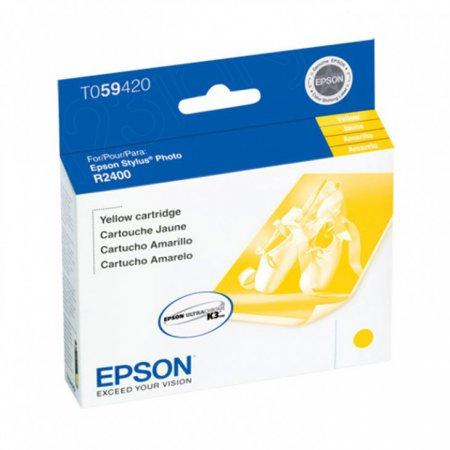 Epson T059420 (T0594) Ink Cartridge, Pigment Yellow, OEM