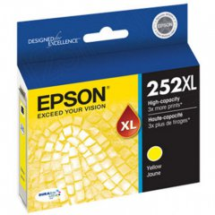Epson T252XL420 Ink Cartridge, High Yield Yellow, OEM