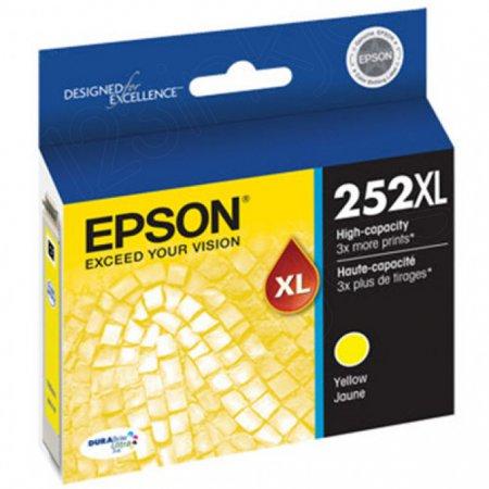 Epson T252XL420 Ink Cartridge, High Yield Yellow, OEM