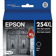 Epson T254XL120 Ink Cartridge, Extra High Yield Black, OEM