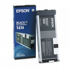 Epson T474011 220ml Ink Cartridge, Black, OEM