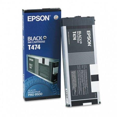 Epson T474011 220ml Ink Cartridge, Black, OEM
