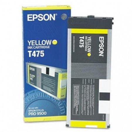 Epson T475011 220ml Ink Cartridge, Yellow, OEM