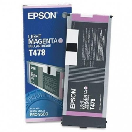Epson T478011 220ml Ink Cartridge, Light Magenta, OEM