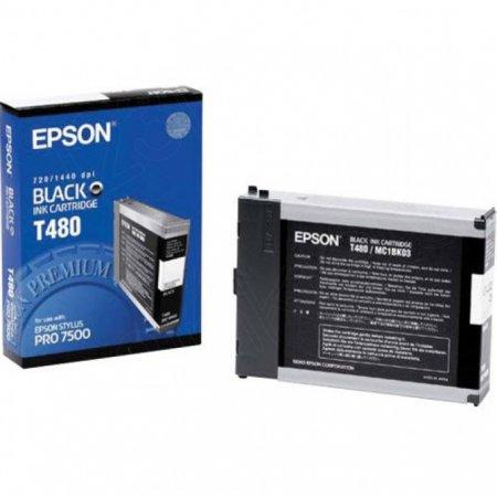 Epson T480011 110ml Ink Cartridge, Black, OEM