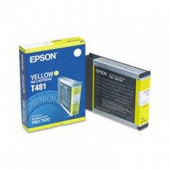 Epson T481011 110ml Ink Cartridge, Yellow, OEM
