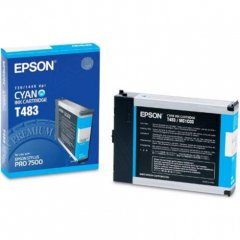 Epson T483011 110ml Ink Cartridge, Cyan, OEM